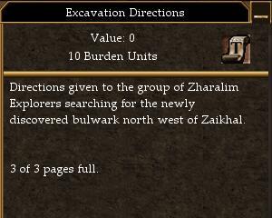 Excavation Directions