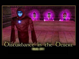 Disturbance in the Desert Splash Screen