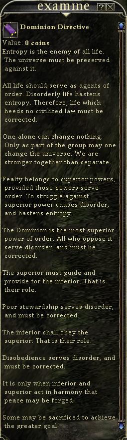 Dominion Directive