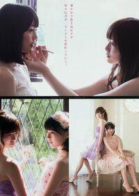 Nogizaka46+Mai+Shiraishi+and+Erika+Ikuta+Bi+no+Keifu+on+Young+Magazine+005