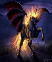 Demonic Unicorn by o eternal o