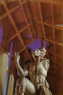 Golan Trevize en los mundos espaciales en ruinas, por Michael Whelan