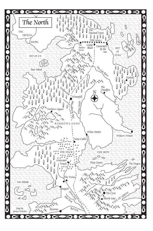 The north AGOT map