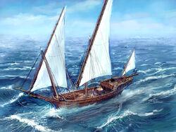 Sallas escort ship by MarcSimonetti