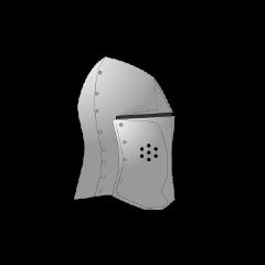 带面甲的弧顶巨盔