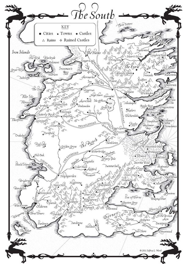 The south Adwd map