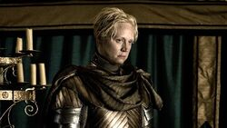 Brienne played by Gwendoline Christie-Helen Sloan