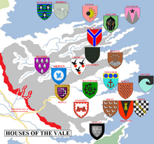 The Map of each House of the Vale
