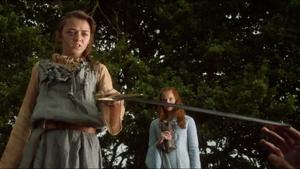 Ayra Taking Joffrey's Sword