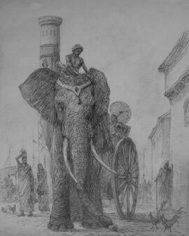 Marc Fishman elephant in Volantis