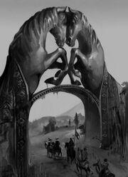 300px-Dothraki gate by Akizhao