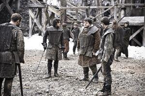 Jon Snow Samwell Pypar Grenn Training Castle BlackHBO