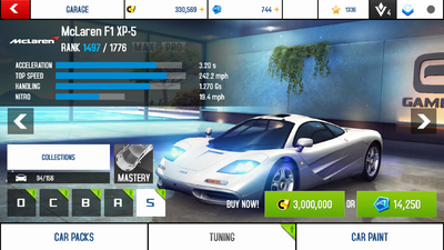 A8A McLaren F1 XP-5 new prices