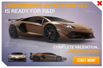 Lamborghini Aventador SVJ R&D Promo