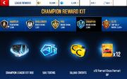 Ezo Champion League Rewards