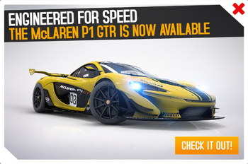 McLaren P1 GTR available