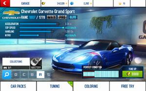 A8 Corvette GS stats (MPET KMH)