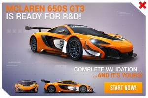 650S GT3 R&D Promo