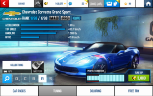A8 Corvette GS stats (MP KMH v4.1)