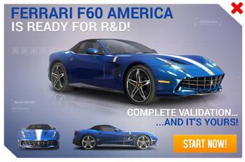 Ferrari F60 America R&D Promo