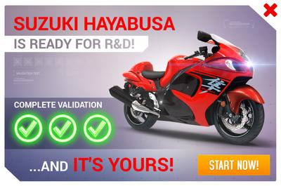 Suzuki Hayabusa R&D Promo