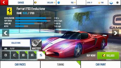A8A Ferrari FXX Evoluzione stock + price