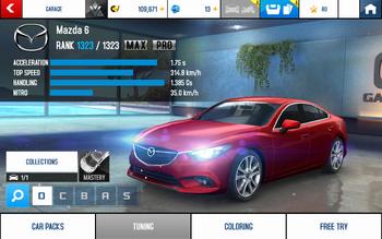 A8 Mazda 6 stats (MP KMH v4.3)