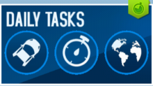 Daily Tasks with Green Indicator