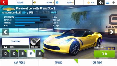 A8A Chevrolet Corvette Grand Sport stock