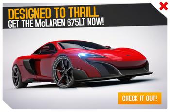 McLaren 675LT Cup ad