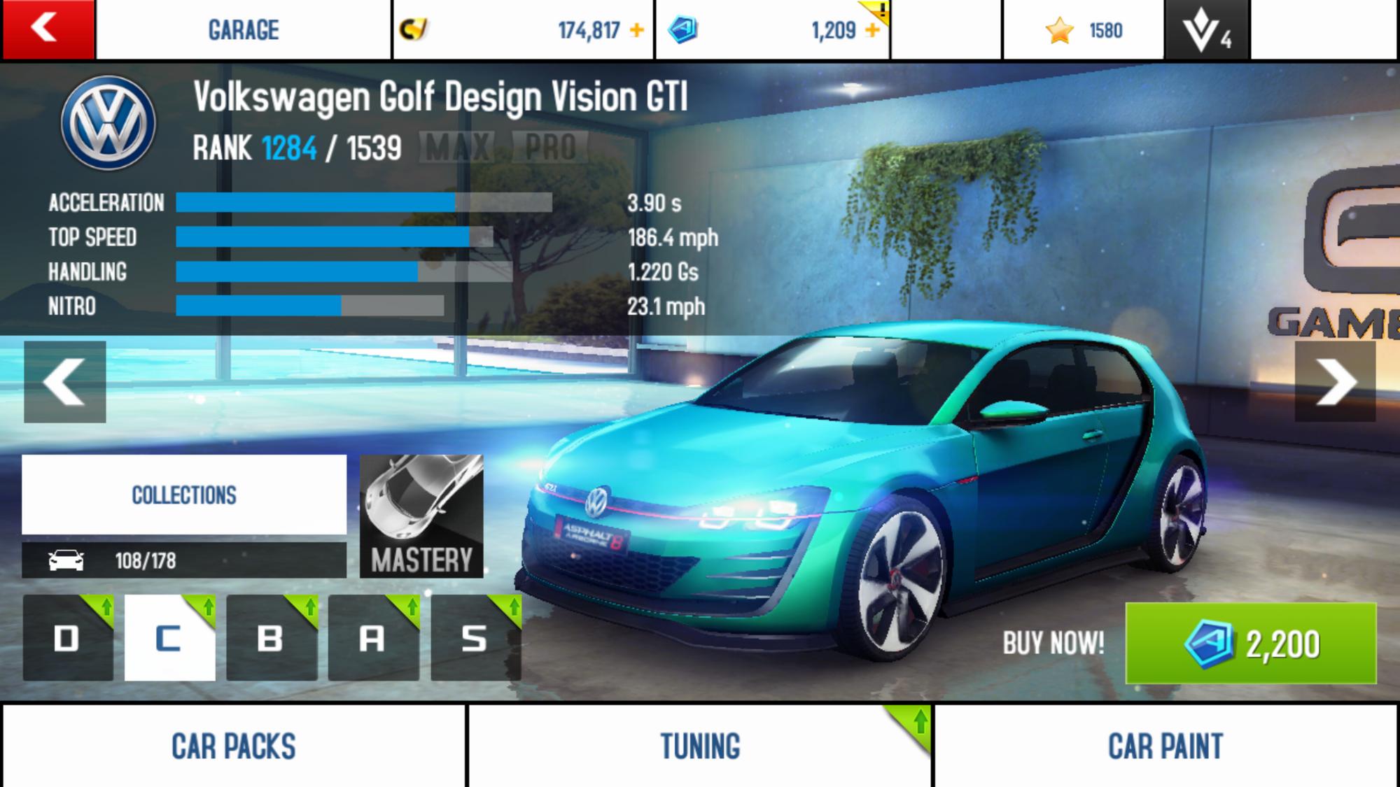 Volkswagen Golf Design Vision GTI\Performance Stats | Asphalt Wiki | FANDOM powered by Wikia