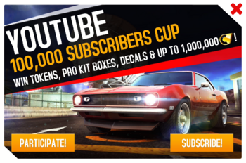 Cup ad 100,000 Subscribers