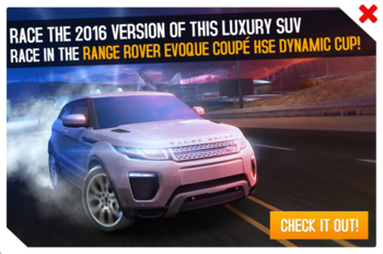 Cup ad Range Rover Evoque Coupe HSE Dynamic