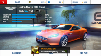 Aston Martin DB9 Coupé maxed out