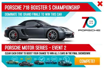 Porsche 718 Boxster S Championship 70th Anniversary Promo