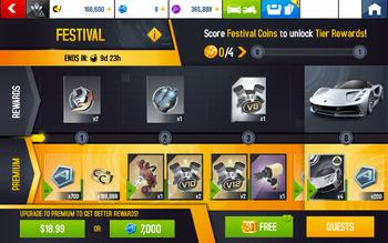 A8 Evija Festival Rewards