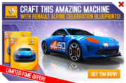 Renault Alpine Celebration BP Promo