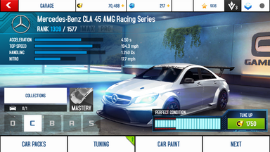 A8A Mercedes-Benz CLA 45 AMG Racing Series stock