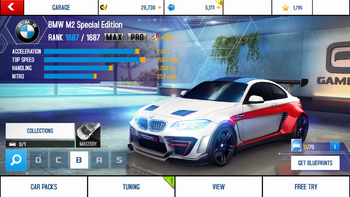 A8 BMW M2 SE stats (MPTK 2)