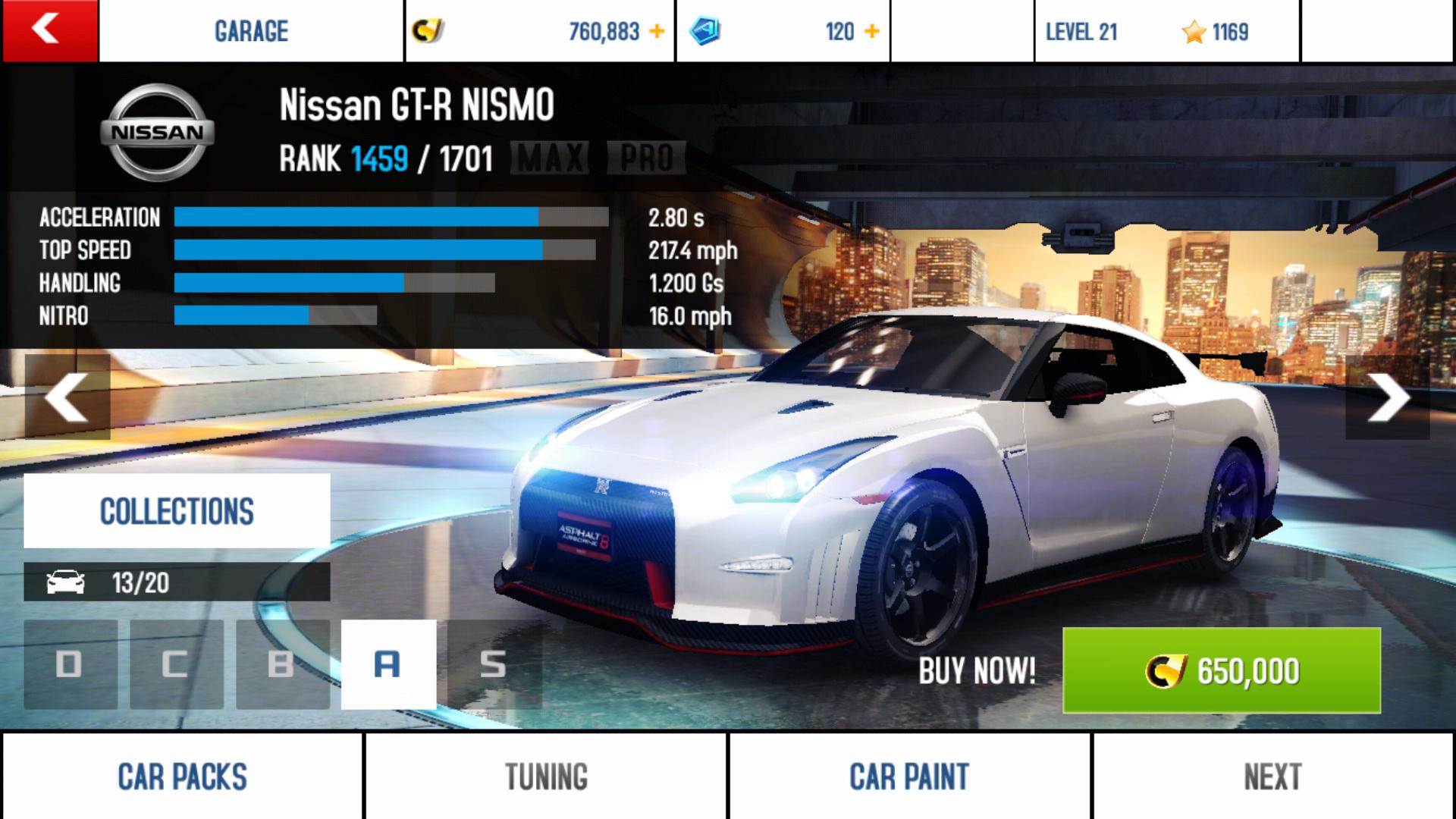 Nissan Gt R Nismo Performance Stats Asphalt Wiki