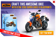 KTM 1290 Super Duke R BP Promo