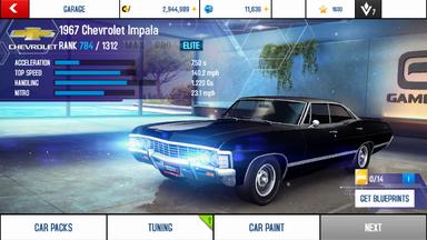 A8A 1967 Chevrolet Impala stock