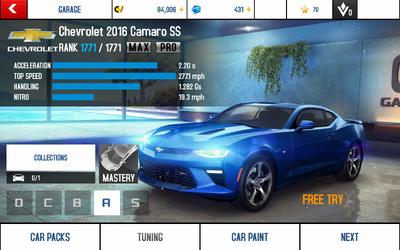 A8 Camaro SS stats (MP MPH)