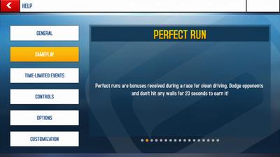 Perfect Run Info