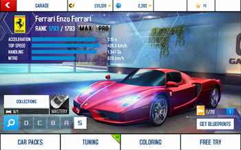 A8 Enzo stats (MP KMH)