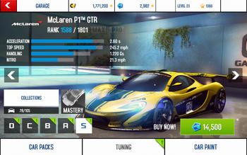 McLaren P1 GTR stock + price