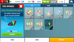 Fusion Coins for free upgrades