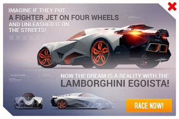 RD ad Lamborghini Egoista