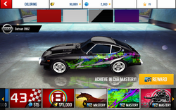 280Z Decal Shocking Speed