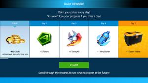 Daily Reward Day 1 an